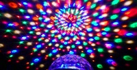 Диско-Шар Led Crystal Magic Ball Light. <b>Скидка 50%</b>