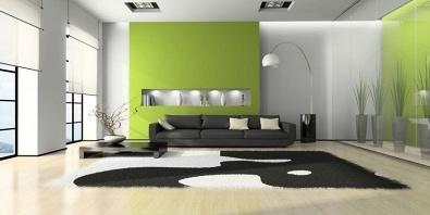 Wandfarben die zu grun