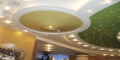 Подвесные потолки для зала своими руками