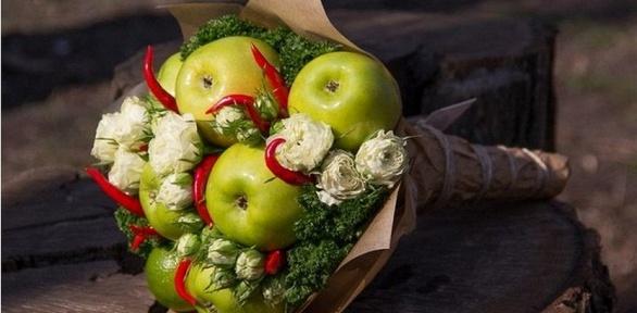 Букет из целых фруктов мастер класс