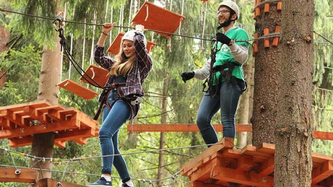 Treetotree Озерки  Веревочный парк для отдыха всей семьей