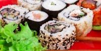 Японский сет, горячие или холодные роллы, пицца отслужбы доставки «Вкуснотека» соскидкой50%