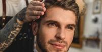 <b>Скидка до 50%.</b> Мужская стрижка скоррекцией бороды или без идетская модельная стрижка вбарбершопе Lucky Frank