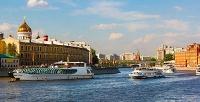 Прогулка с ужином или без на теплоходе «Кармэл» и «Жюль Верн» по Москве-реке с компанией «Праздник на воде». <b>Скидкадо57%</b>