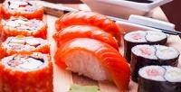 Блюда навыбор откомпании «Династия-суши» соскидкой50%