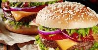 Бургеры, картошка фри, наггетсы инапитки навыбор вресторане Junior Star. <b>Скидка50%</b>