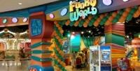 <b>Скидка до 50%.</b> Посещение детской игровой площадки слабиринтом, образовательной зоной, батутами иинтерактивными панелями, катанием нааттракционах всемейном развлекательном парке Funky World