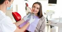 <b>Скидка до 95%.</b> Лечение кариеса сустановкой пломбы, комплексная консультация стоматолога иУЗ-чистка зубов встоматологической клинике «Пломбир»