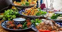 <b>Скидка до 54%.</b> Восточный ужин для двоих или дружеский ужин для компании до6человек влаундж-ресторане восточной иавторской кухни «Карши»