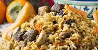 Блюда инапитки ввосточном кафе «Чайхана Байрам» соскидкой50%