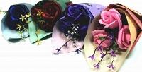 <b>Скидка до 45%.</b> Букет ароматных роз измыла ручной работы вподарочной коробке или крафтовой упаковке