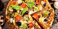 <b>Скидка до 40%.</b> 2, 3или 5пицц навыбор диаметром 30см откомпании «Красти пицца»