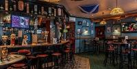 Меню инапитки вирландском пабе Harat's Irish Pub