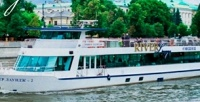 <b>Скидка до 52%.</b> Прогулка поМоскве-реке собедом либо ужином натеплоходе River Lounge
