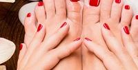 <b>Скидка до 60%.</b> Маникюр ипедикюр спокрытием гель-лаком иукреплением ногтей встудии красоты Poplavsky