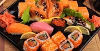 Все роллы, суши, лапша wok, пирожки тайяки, супы, запеченные мидии икреветки отслужбы доставки «Креветочка» соскидкой50%