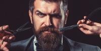 <b>Скидка до 50%.</b> Мужская стрижка сопасным бритьем, моделированием бороды или без вбарбершопе «Черная кость»