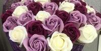 <b>Скидка до 77%.</b> Букет ароматных вечных роз измыла ручной работы вподарочной коробке