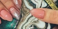 Комбинированный маникюр спокрытием ногтей гель-лаком вnail-баре Lilac Nail вТЦ«Орион» (400руб. вместо 800руб.)