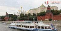 Прогулка натеплоходе поМоскве-реке ссудоходной компанией «Алые паруса». <b>Скидка57%</b>