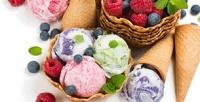 Десерты, мороженое встаканчике ифруктовые коктейли вкафе «Баскин Роббинс» соскидкой50%