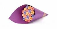 <b>Скидка до 31%.</b> Букет роз избельгийского шоколада