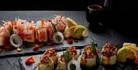 Блюда меню инапитки отслужбы доставки суши-бара Wilochka соскидкой50%