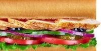 <b>Скидка до 50%.</b> Сэндвичи, роллы или салаты всети ресторанов быстрого питания Subway соскидкой50%
