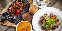 <b>Скидка до 50%.</b> Блюда изтемпура-меню инапитки вкафе «Палуба» ототеля Quattro