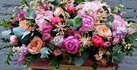 <b>Скидка до 62%.</b> Букет, цветочная композиция вшляпной коробке, корзина или ящик сцветами