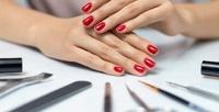 <b>Скидка до 65%.</b> Маникюр ипедикюр спокрытием идизайном двух ногтей или без откабинета красоты Kenazz