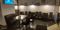 <b>Скидка до 57%.</b> Сет ссэндвичем, салатом, картофелем фри, солеными орешками, чаем, кофе или пенным напитком вкафе Sandwich House Dorf