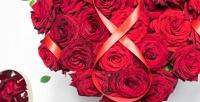 <b>Скидка до 50%.</b> Цветочная композиция или до 25 эквадорских или российских роз в букете
