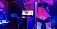 <b>Скидка до 50%.</b> Игра вочках HTC Vive PRO инаVR-беговой дорожке сполным погружением ввиртуальную реальность отклуба MultiVR