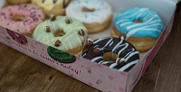 <b>Скидка до 50%.</b> Пончики сначинкой вглазури скофе или без отсети кофеен Candy &Coff