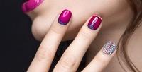 Классический или комбинированный маникюр спокрытием гель-лаком идизайн двух ногтей всалоне Nail Studio B&M (400руб. вместо 1000руб.)