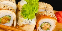 <b>Скидка до 50%.</b> Суши-сет «Хосомаки», «Мацуро», «Сакана», «Токусима» отслужбы доставки «Суши Room»