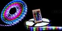Комплекты 5-метровых светодиодных лент Magic Lights спультом управления иблоком питания.<b> Скидкадо65%</b>