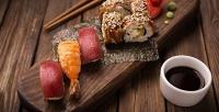 Роллы, суши, сеты икитайская лапша вресторане доставки «Кушай-Суши». <b>Скидкадо60%</b>
