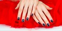 Наращивание ногтей иманикюр спокрытием всалоне красоты StudioCharm.<b>Скидкадо67%</b>