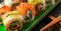 Роллы, пицца, бургеры иблюда Wok вслужбе доставки «Дом суши». <b>Скидкадо72%</b>