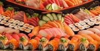Роллы, суши инаборы без ограничения суммы чека вслужбе доставки Wasabi. <b>Скидка50%</b>