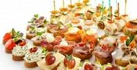 Канапе слососем, паштетом, сырным кремом идругими начинками вкомпании «Мосгорпицца»<b>. Скидкадо61%</b>