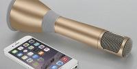 Беспроводной караоке-микрофон Yokee сфункцией подключения ксмартфону. <b>Скидка50%</b>
