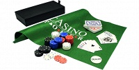 Набор для игры впокер иблэк-джек вподарочном футляре. <b>Скидка40%</b>