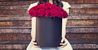 Розы вшляпной коробке сбесплатной доставкой вRickRose. <b>Скидкадо64%</b>