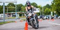 Обучение вождению мотоцикла накрытом мотодроме для получения прав категории «A» всети школ «Автолайт». <b>Скидка85%</b>