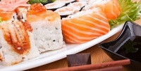 Суши, роллы исеты вслужбе доставки «Рыбин Гуд». <b>Скидка50%</b>