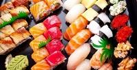 Всё меню, включая суши, роллы, горячие блюда, пиццу и многое другое в службе доставки «Суши Мэн». <b>Скидка50%</b>