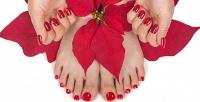 Маникюр ипедикюр спокрытием ногтей гель-лаком всалоне «Тайное агентство красоты». <b>Скидкадо65%</b>